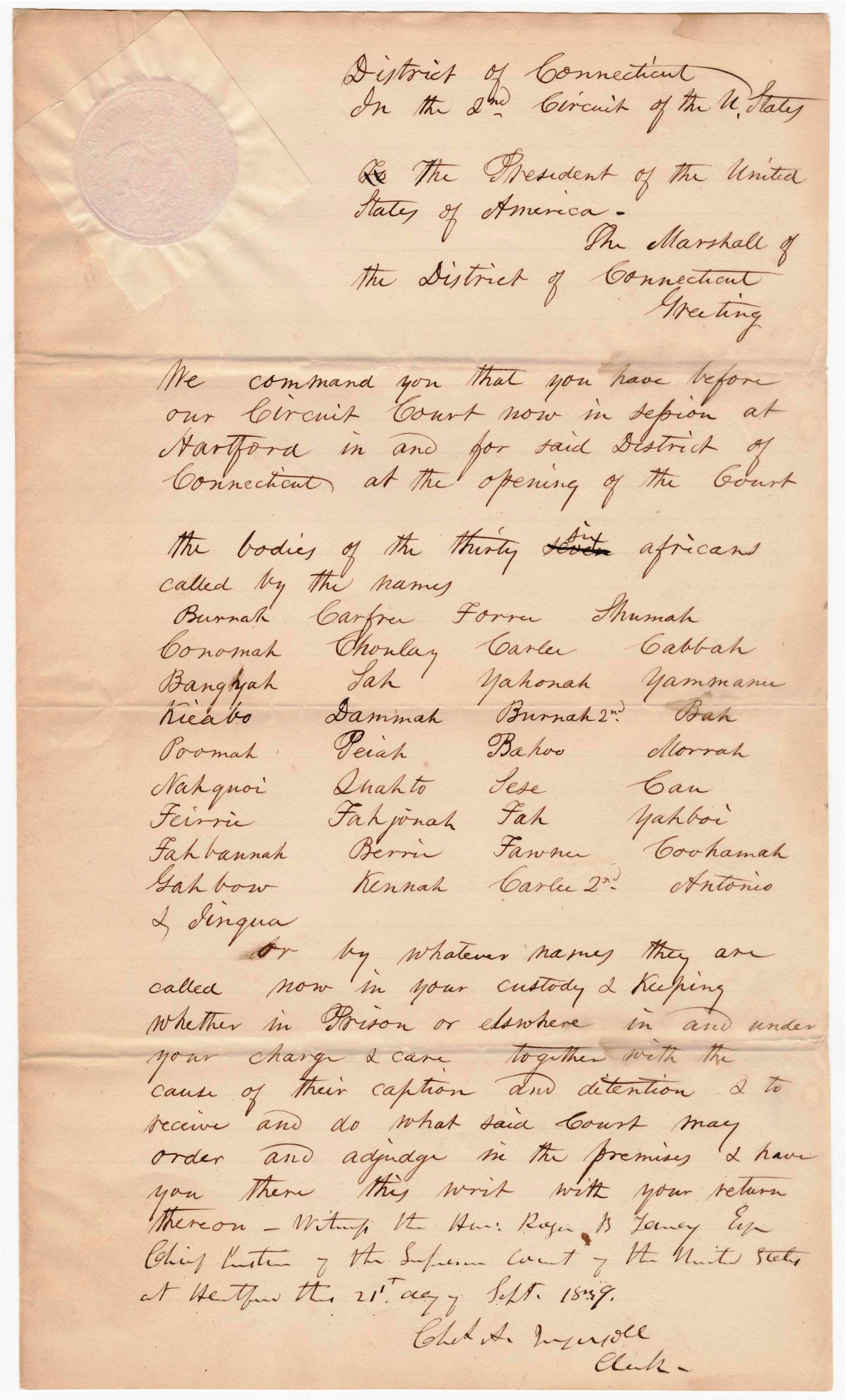 amistad trial The amistad court case - part 2 abstract: connecticut history the amistad court case - part 2 the trial began the defense team was made up of connecticut natives, roger sherman baldwin and theodore sedgwick they both attended yale college they both supported the abolitionist movement that.